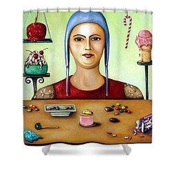 Sugar Addict Shower Curtain by Leah Saulnier The Painting Maniac