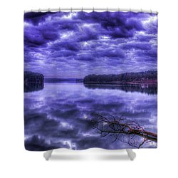 Shower Curtain featuring the photograph Sugar Creek Reflections Lake Oconee Georgia Art by Reid Callaway