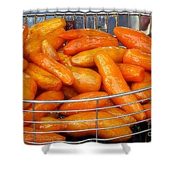 Sugar Glazed Sweet Potatoes Shower Curtain by Yali Shi