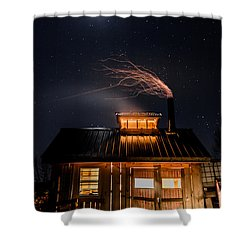 Sugar House At Night Shower Curtain