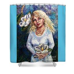 Sugar Magnolia Shower Curtain