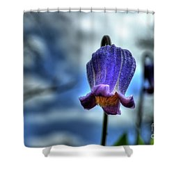 Sugarbowl Leather Flower Shower Curtain
