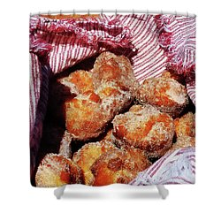 Sugared Donut Holes Shower Curtain by Susan Savad
