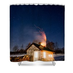 Sugaring Time Shower Curtain