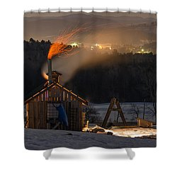 Sugaring View Shower Curtain by Tim Kirchoff