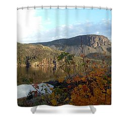 Shower Curtain featuring the photograph Sugarloaf Hill In Autumn by Barbara Griffin