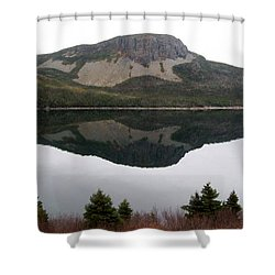 Shower Curtain featuring the photograph Sugarloaf Hill Reflections by Barbara Griffin