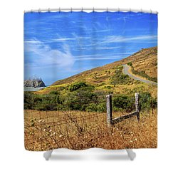 Shower Curtain featuring the photograph Sugarloaf Island On The Lost Coast by James Eddy