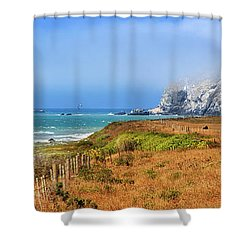 Shower Curtain featuring the photograph Sugarloaf Island Panorama by James Eddy