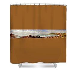 Sugarloaf Rock Panorama I Shower Curtain