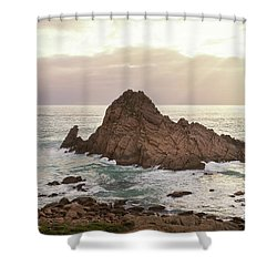 Shower Curtain featuring the photograph Sugarloaf Rock Sunset by Ivy Ho