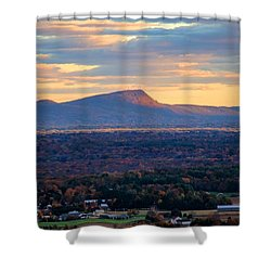 Sugarloaf View, South Deerfield, Ma Shower Curtain