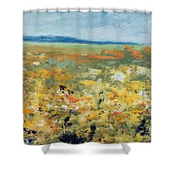 Suggestion Of Flowers Shower Curtain