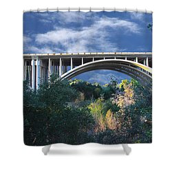 Suicide Bridge 2 Shower Curtain by Robert Hebert