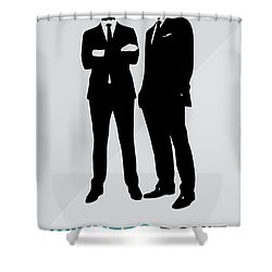 Suits Tv Show Poster Harvey Quote - Winners Don't Make Excuses Shower Curtain