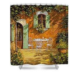 Sul Patio Shower Curtain by Guido Borelli