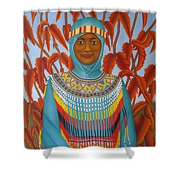 Sulawesi Girl Shower Curtain by Brian Leverton