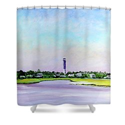 Sullivans Island Lighthouse Shower Curtain