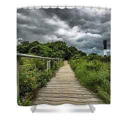 Sullivan's Island Summer Storm Clouds Shower Curtain