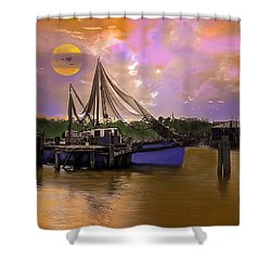 Sultry Bayou Shower Curtain by J Griff Griffin