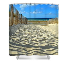 Sultry September Beach Shower Curtain