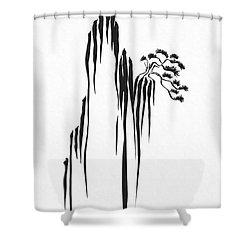 Sumi-e - Bonsai - One Shower Curtain