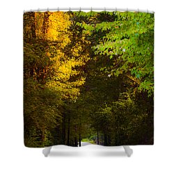 Summer And Fall Collide Shower Curtain