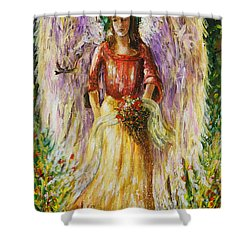 Summer Angel Shower Curtain