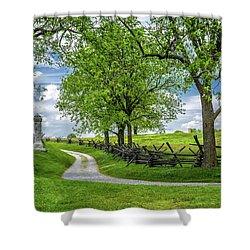Shower Curtain featuring the photograph Summer At Antietam National Battlefield by Lori Coleman