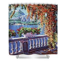 Summer At Lake Como Shower Curtain