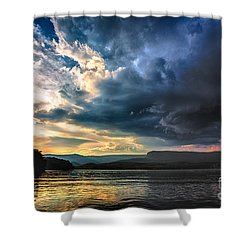 Summer At Lake James Shower Curtain by Robert Loe