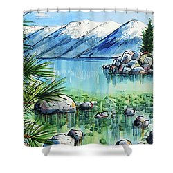 Summer At Lake Tahoe Shower Curtain