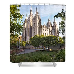 Summer At Temple Square Shower Curtain