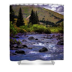 Shower Curtain featuring the photograph Summer At The Animas River by Ellen Heaverlo