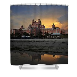 Summer At The Don Shower Curtain by David Lee Thompson