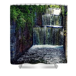 Shower Curtain featuring the photograph Summer At The Five Combines by Kendall McKernon