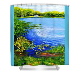 Summer At The Lake Shower Curtain by Anne Marie Brown