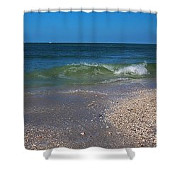 Shower Curtain featuring the photograph Summer At The Shore by Michiale Schneider