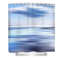 Summer Beach Blues Shower Curtain by Bill Wakeley
