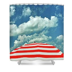 Summer Beach Sky Shower Curtain