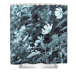 Summer Beauties Cyanotype II Shower Curtain by Marianne Campolongo