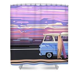 Summer Shower Curtain by Bekim Art