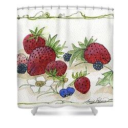 Summer Berries Shower Curtain