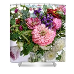 Shower Curtain featuring the photograph Summer Bouquet by Louise Kumpf
