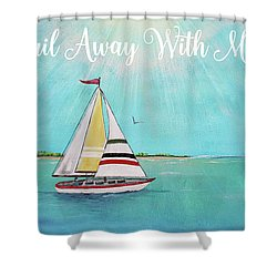 Shower Curtain featuring the painting Summer Breeze-c by Jean Plout