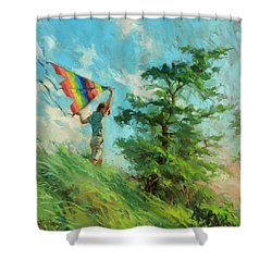 Shower Curtain featuring the painting Summer Breeze by Steve Henderson