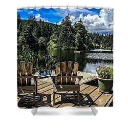 Summer By Eagle Lake Shower Curtain by William Wyckoff