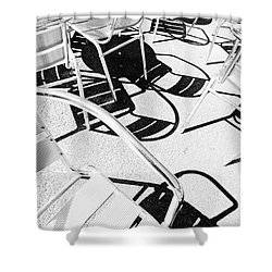 Summer Chair Pattern Shower Curtain