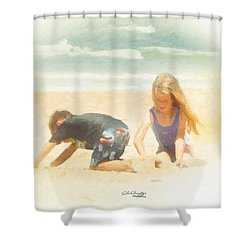 Shower Curtain featuring the painting Summer by Chris Armytage