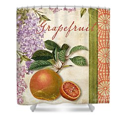 Summer Citrus Grapefruit Shower Curtain by Mindy Sommers